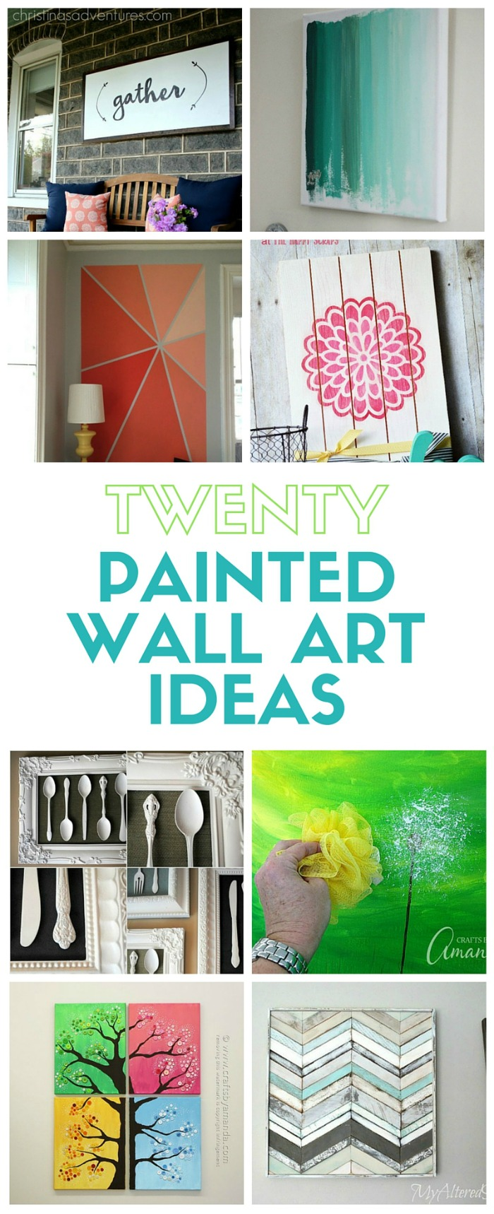 Create Your Own Wall Art 20 painted wall art ideas - the crafty blog stalker