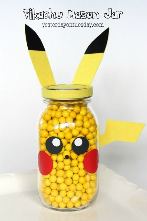 image of Pikachu Mason Jar