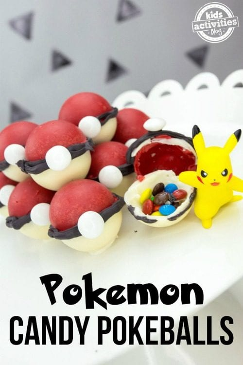 Top 20 Pokemon Party and Craft Ideas featured by top US craft blog, The Crafty Blog Stalker: pokemon candy pokeballs