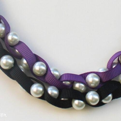braided ribbon necklace ribbon 14