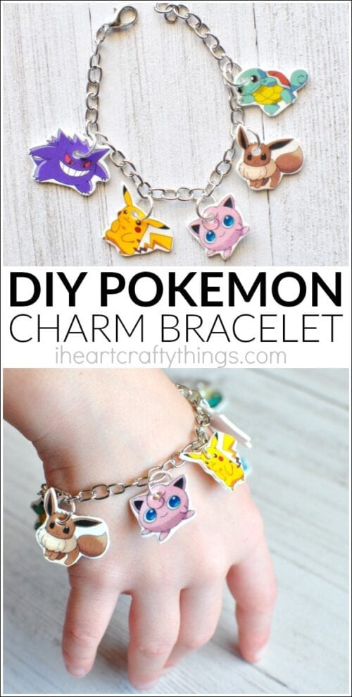 image of a DIY Pokemon Charm Bracelet
