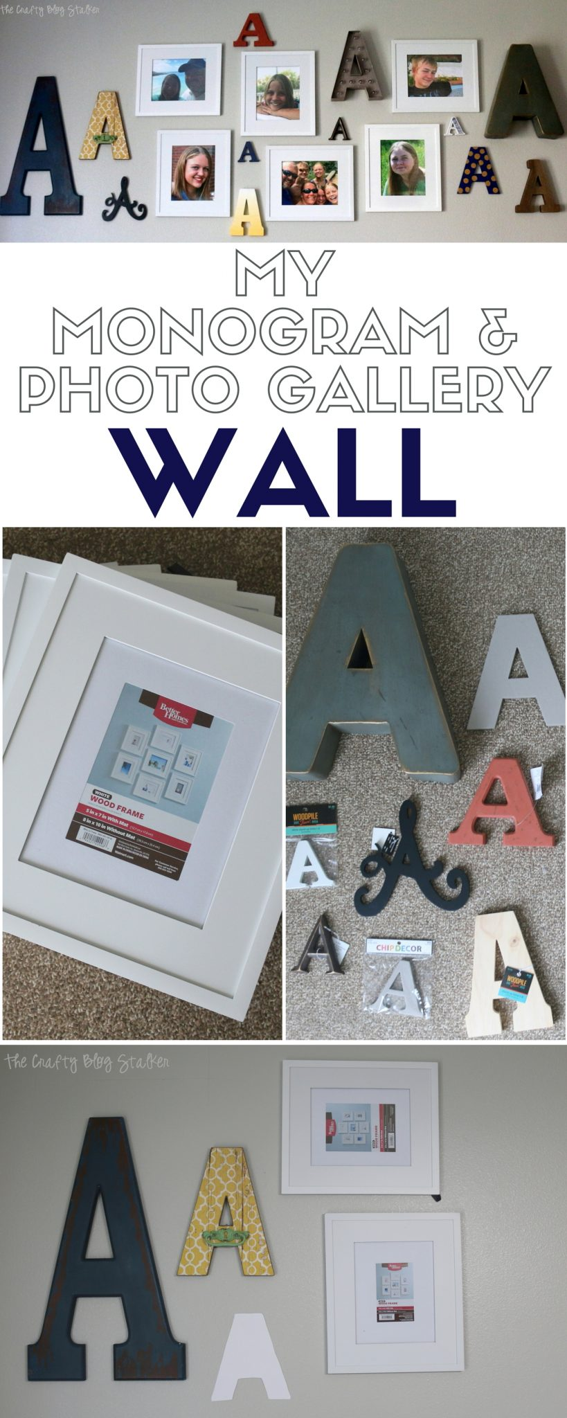 Monogram Photo Gallery Wall | Home Decor | DIY Ideas | Craft Tutorial