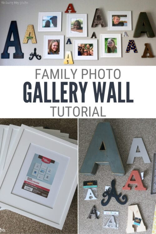 title image for How to Make a Monogram Family Photo Wall Gallery blog post