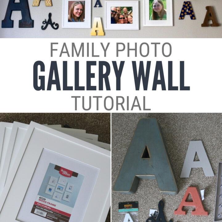 monogram photo gallery wall 13