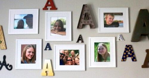 monogram photo gallery wall 14
