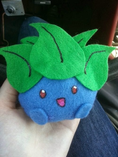 Top 20 Pokemon Party and Craft Ideas featured by top US craft blog, The Crafty Blog Stalker: Oddish Plushie