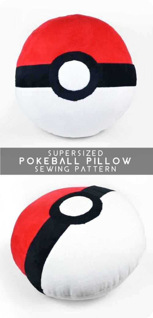 image of Pokeball Pillow Sewing Pattern