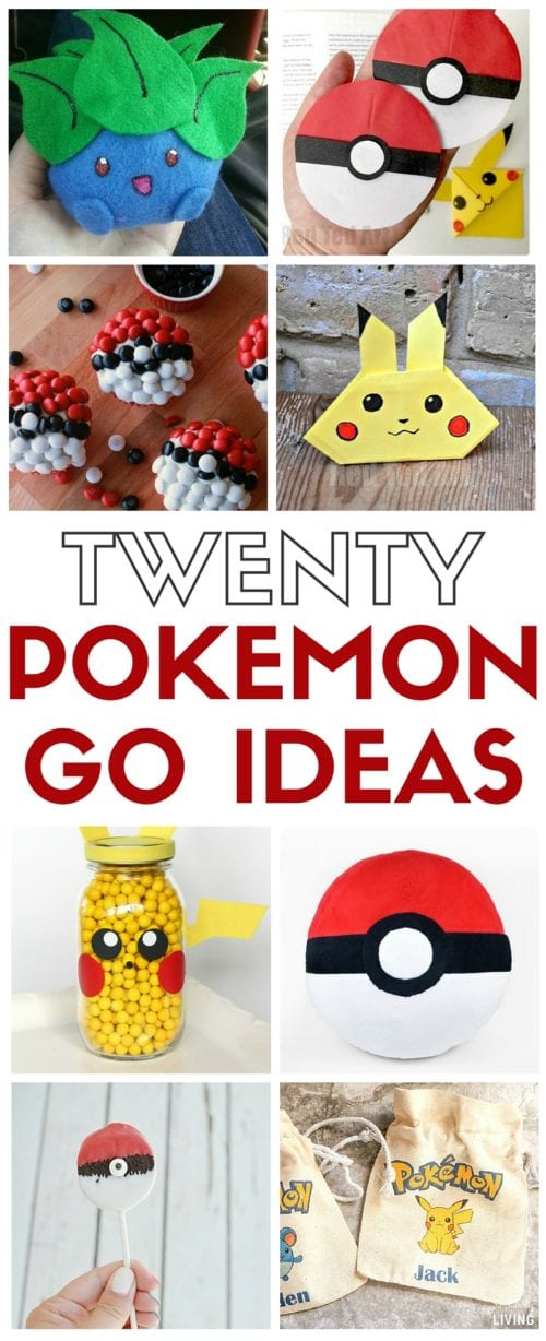 Fun and simple DIY craft tutorial ideas for Pokemon Go. Gotta catch 'em all even when the game app is off! Great party ideas and boredom busters.