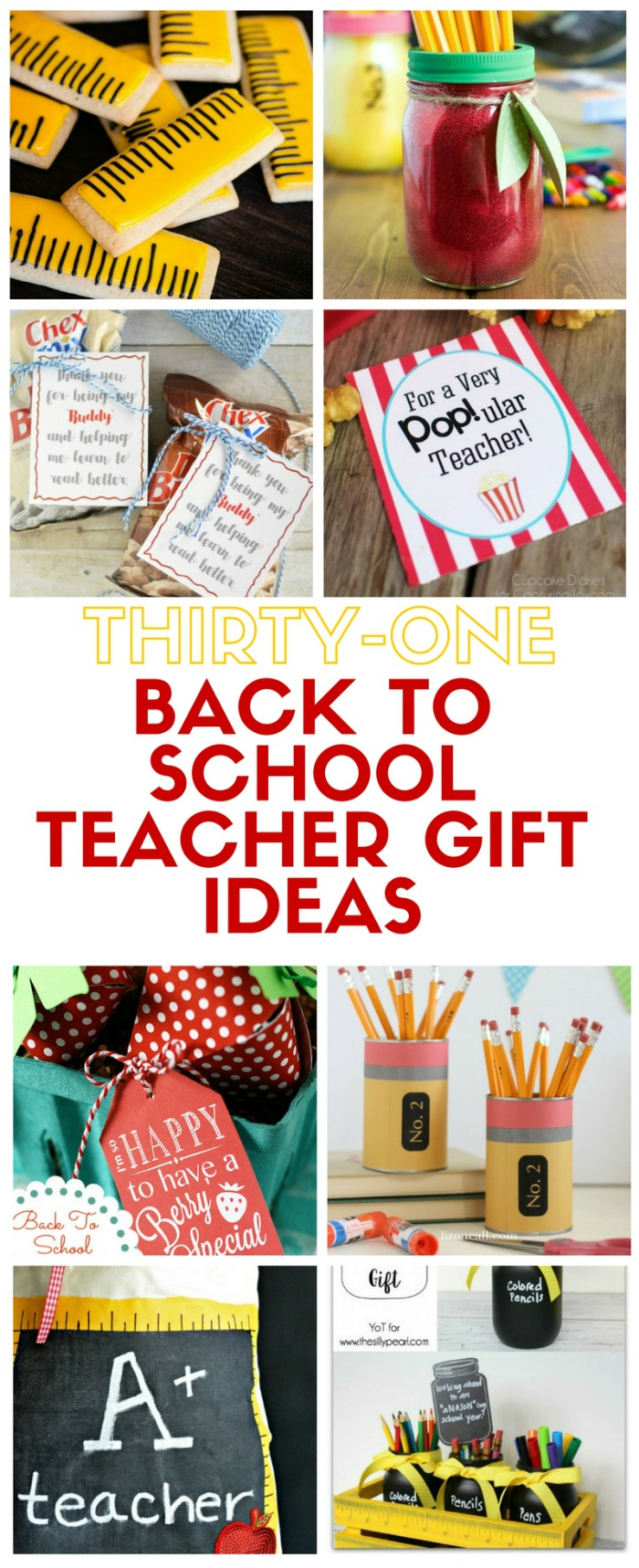 31 Back To School Teacher Gift Ideas