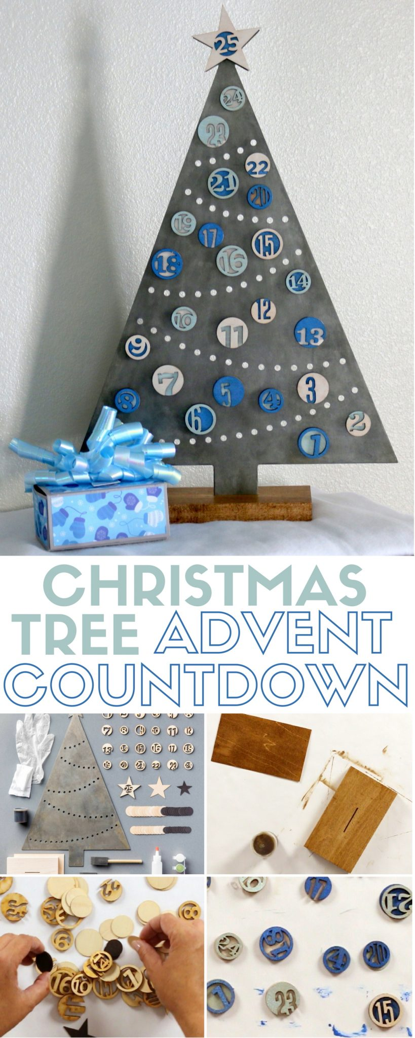 Countdown to Christmas Day with this Christmas Tree Advent Calendar that will quickly become part of your holiday traditions and decor.