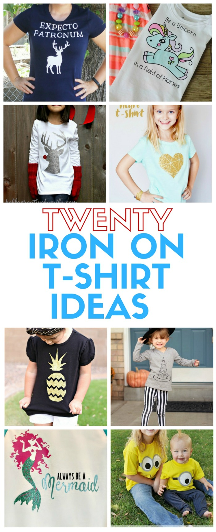 20 T-Shirt ideas using Heat Transfer Vinyl | The Crafty Blog