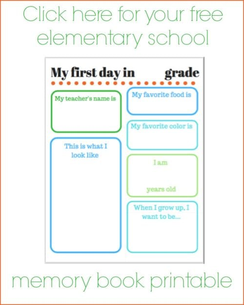 How to Make a Back to School Memory Book With Free Printable featured by top US craft blog, The Crafty Blog Stalker.