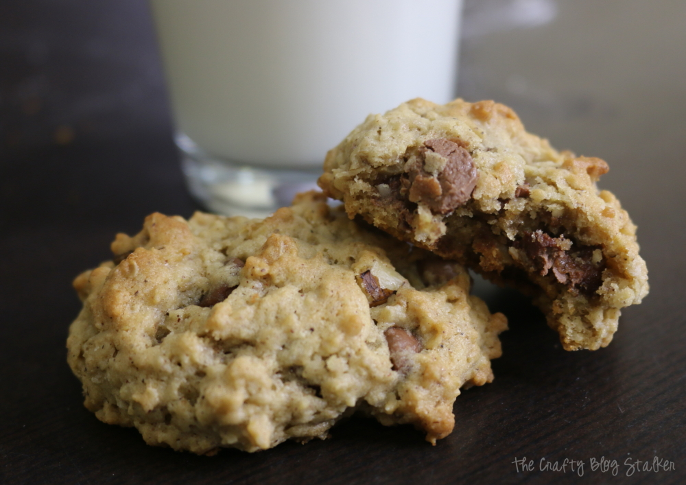 Delicious Oatmeal Chocolate Chip Cookie Recipe that has been passed down from generation to generation. A family favorite! Simple DIY recipe tutorial!