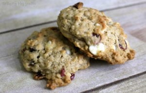 White Chocolate & Cranberry Oatmeal Cookie Recipe