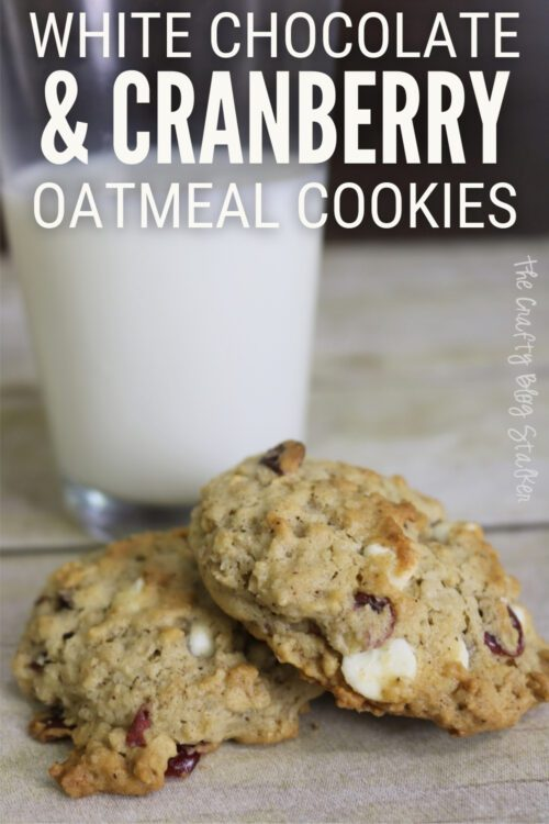 title image for How to Make White Chocolate & Cranberry Oatmeal Cookies Recipe