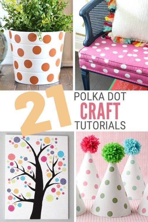 title image for 21 Polka Dot Pattern DIY Craft Ideas