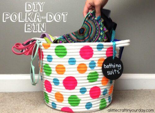 DIY Polka Dot Bin