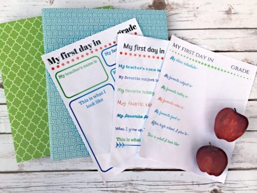 School memory books are a great way to keep special papers organized throughout the year. DIY your own book using this set of free printables.