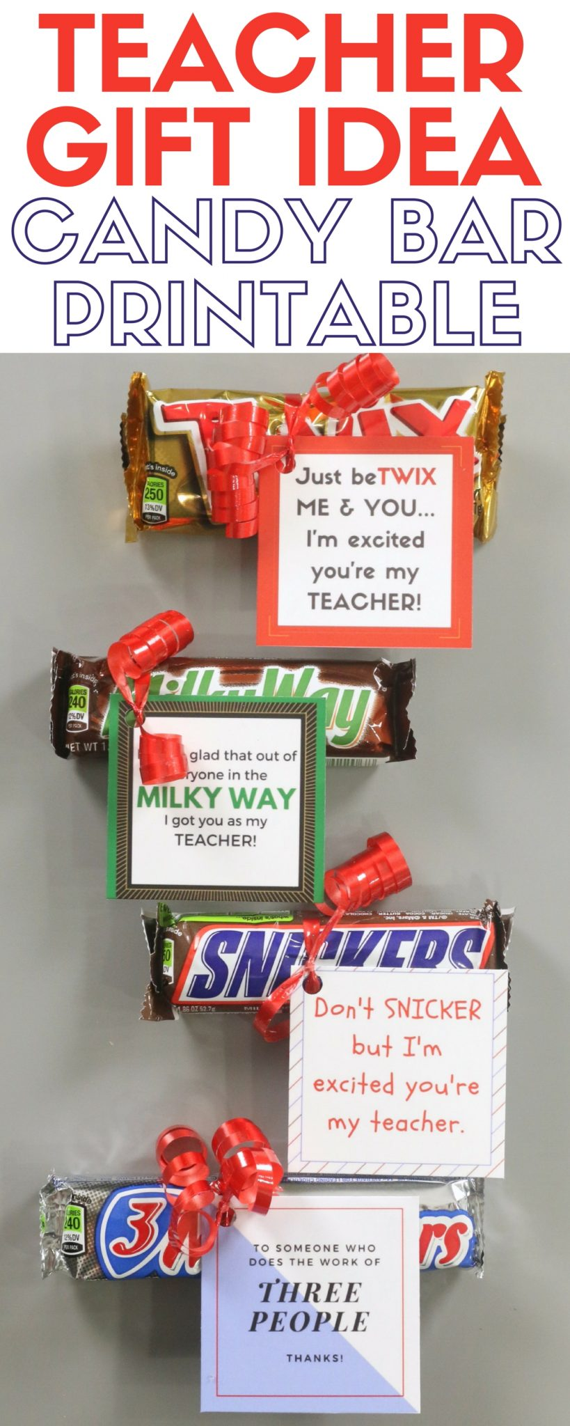 How to make a candy bar printable teacher gift idea the Gifts to show appreciation to friend