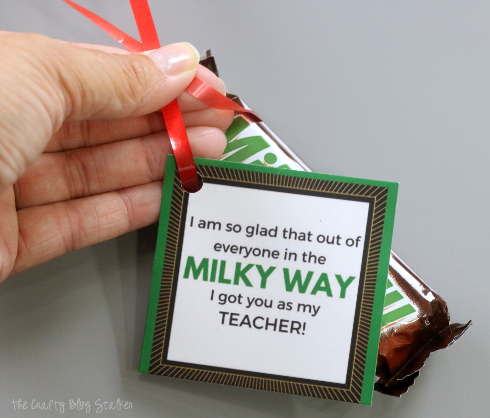 Teacher Gift Idea | Free Printable | Candy Bar | Easy DIY Craft Tutorial