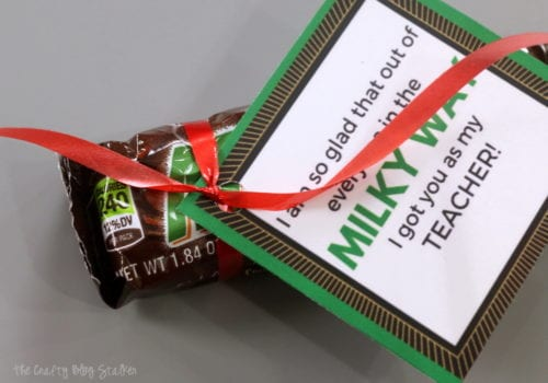 How to Make a Printable Candy Bar Wrapper Teacher Gift Idea, a tutorial featured by top US craft blog, The Crafty Blog Stalker.
