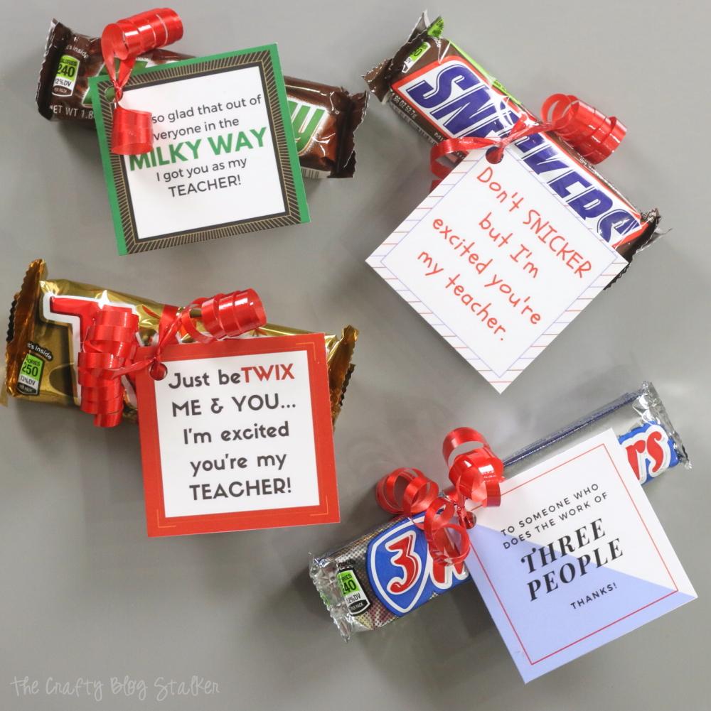 Classroom Gift Ideas For Teacher ~ How to make a candy bar printable teacher gift idea the