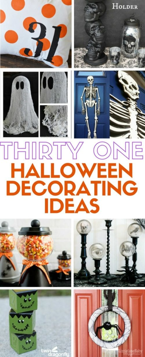 31 easy DIY craft tutorial to create your own Halloween Decor. Ideas for spooky and the more light-hearted fun Halloween decoration.