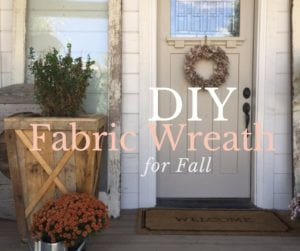 Fabric Wreath | Fall Wreath | Fabric Scraps | How to | DIY | Home Decor | Craft Tutorial