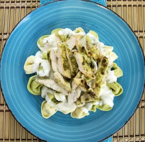 How to Make Pesto Chicken Alfredo over Tortellini