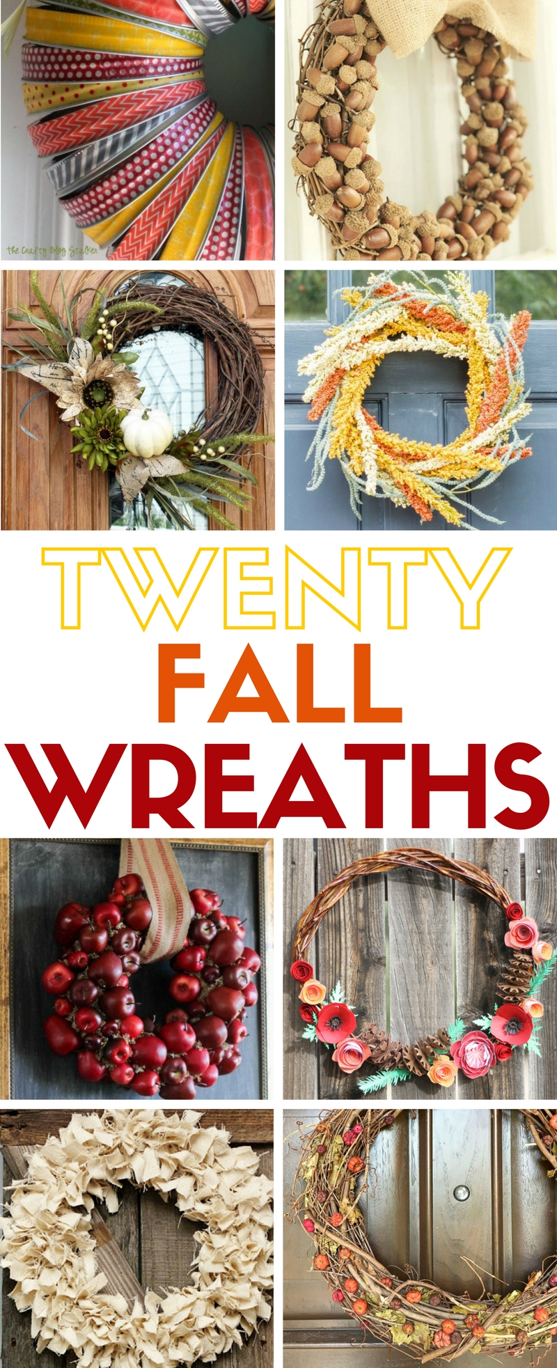 My favorite post from this week's Linky Party is this Easy Fall Wreath ideas. Learn how to make 20 easy fall wreaths. Hang them on your front door or inside for autumn home decor. Simple DIY craft tutorial ideas.