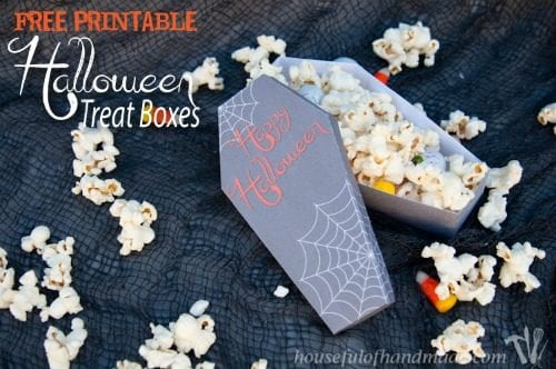 Free Printable Halloween Coffin Treat Boxes