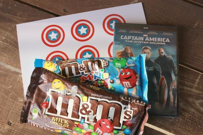 M&M Captain America Printable