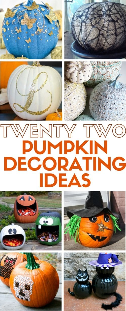 Find 22 Pumpkin Decorating Ideas All In One Place Simple Diy Craft Tutorial That