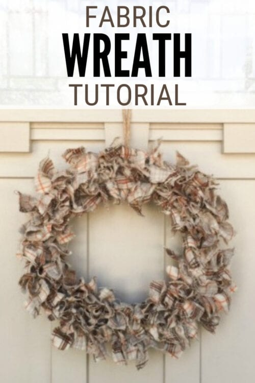 title image for how to make a fabric wreath for fall