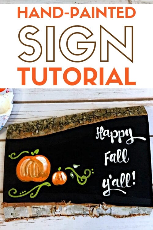 hand-painted sign for fall title image