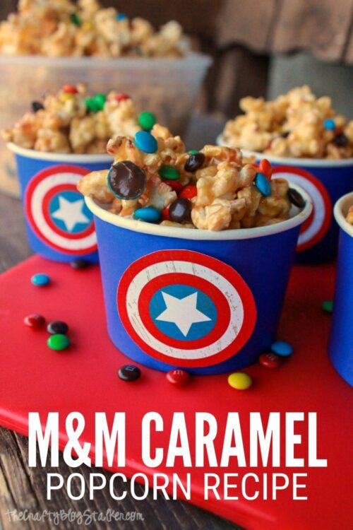 title image for How to Make M&M Caramel Popcorn Recipe