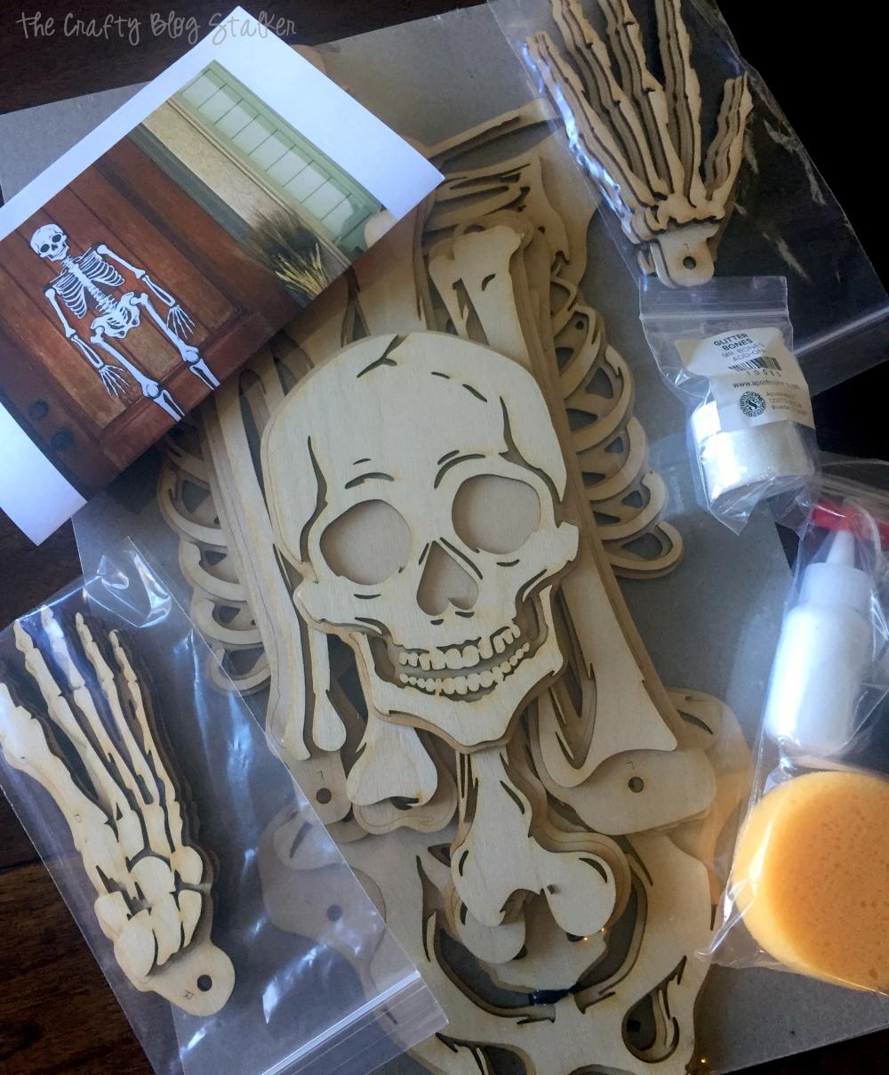 Mr. Bones | Craft Kit | Halloween | Skeleton | Laser Cut Wood | Home Decor