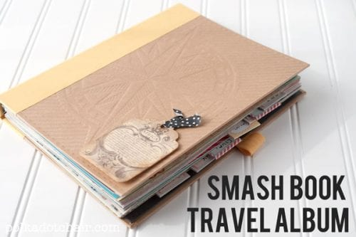 How to Start a Smash Book | Memory Keeping | Journal | Journaling | Scrapbook | How to Make | Easy DIY Craft Tutorial Idea | Pages | Inspiration | Smash Book by popular US craft blog, The Crafty Blog Stalker: image of a smash book.