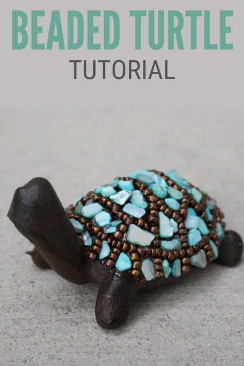 title image for How to Make Beaded Turtle Home Decor