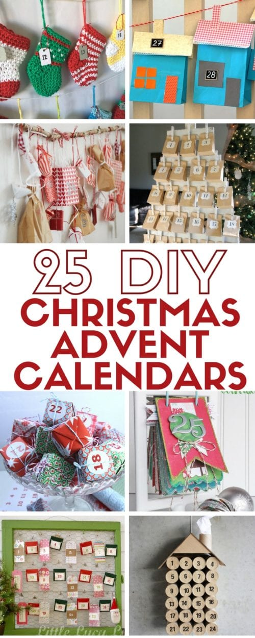 25 easy DIY craft tutorial ideas for your Christmas advent calendar. Countdown to Christmas in a fun and creative way. Great for kids and adults alike!