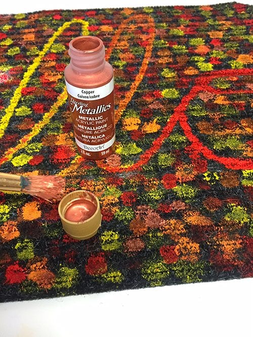 Make An Easy Autumn Quot Hello Quot Mat With A Dollar Store Rug