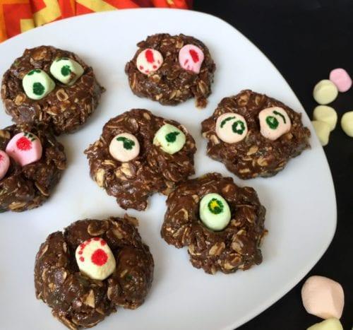 How to Make No-Bake Nutella Monster Cookies Kids Love to Make | Easy DIY Craft Tutorial Idea | Dessert | Halloween Treats | marshmallows