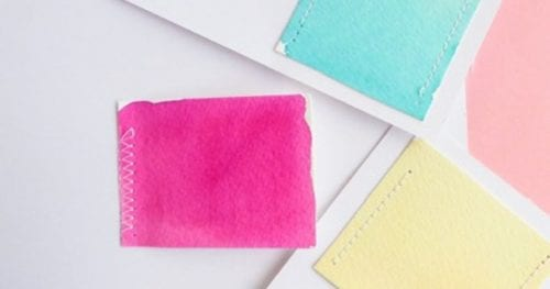 How to Make a Sewn Watercolor Card, a tutorial featured by top US craft blog, The Crafty Blog Stalker.