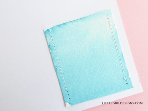 Learn how to sew watercolor cards! Easy DIY craft tutorial idea to make a beautiful handmade card and send snail mail or give as gifts!