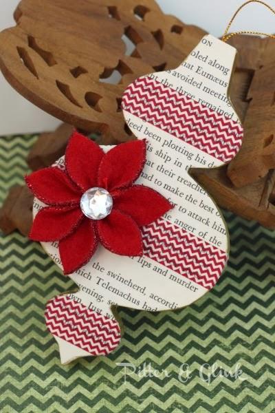 Buchseite und Washi Tape Ornament