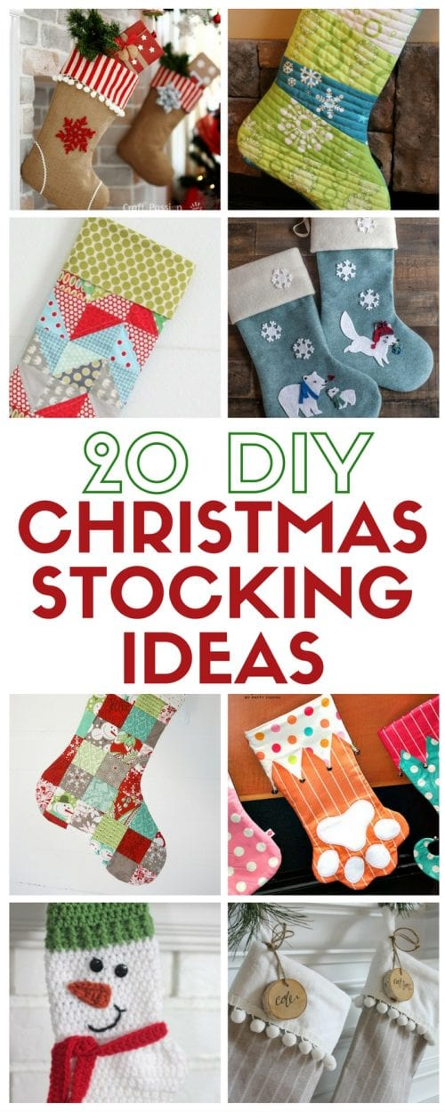 20 DIY Chrismas Stocking Ideas | easy craft tutorial | patterns | Holidays | home decor | decorating