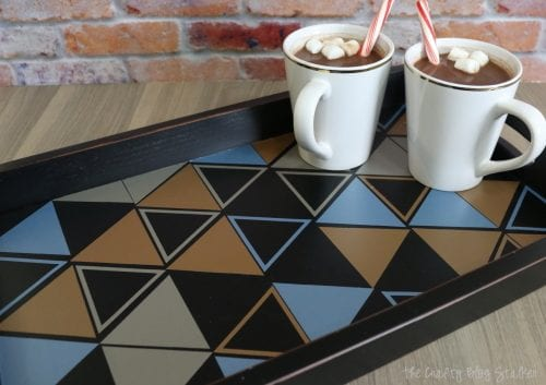 How to Make a DIY Patterned Serving Tray, a tutorial featured by top US craft blog, The Crafty Blog Stalker.