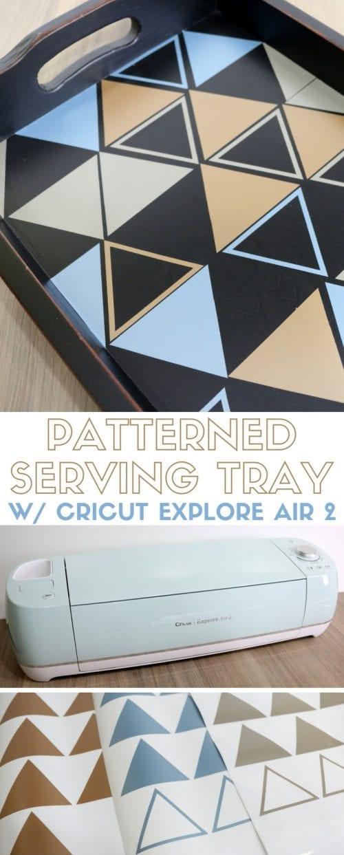 Patterned Serving Tray | Cricut Explore Air 2 | Home Decor | Vinyl | Easy DIY Craft Tutorial Idea