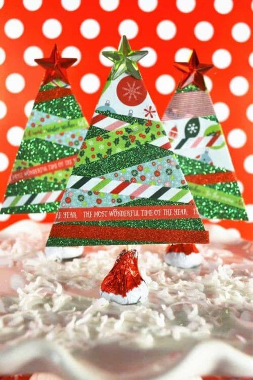 Washi Tape Weihnachtsbäume
