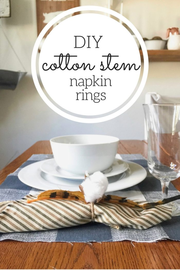 How to Make Easy Cotton Stem Napkin Rings, a tutorial featured by top US craft blog, The Crafty Blog Stalker.